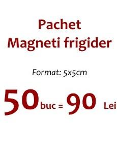Pachet 50 magneti frigider 5x5 cm