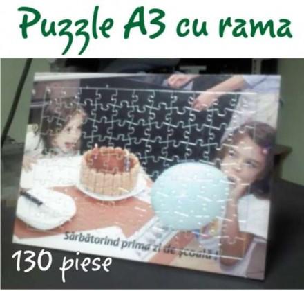 Puzzle Personalizat A3 cu rama